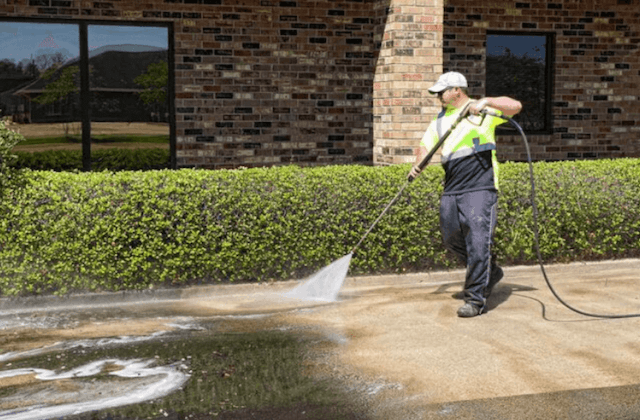 commercial concrete cleaning in fishers